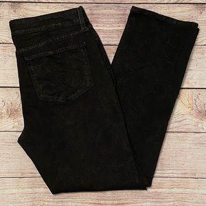 NYDJ Straight Leg Metallic Snake Pattern Jeans